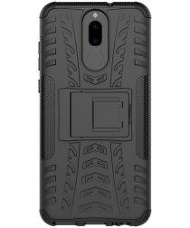 Robuust Hybride Huawei Mate 10 Lite Hoesje Zwart