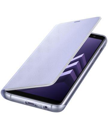 Samsung Galaxy A8 (2018) Neon Flip Cover Paars
