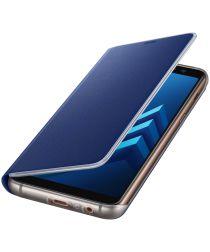 Samsung Galaxy A8 (2018) Neon Flip Cover Blauw