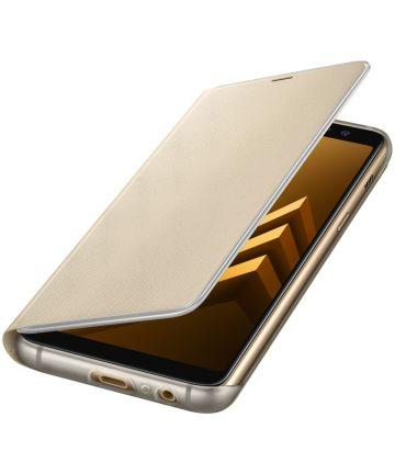 Samsung Galaxy A8 (2018) Neon Flip Cover Goud