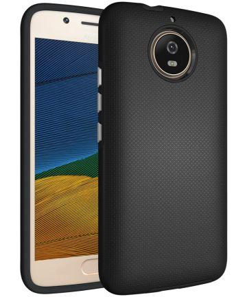 Motorola Moto G5S Hybride Hoesje Zwart