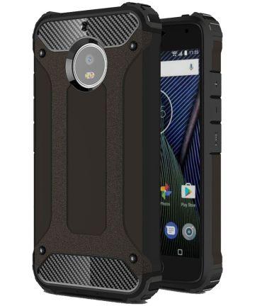 Motorola Moto G5S Stoer Hybride Hoesje Zwart