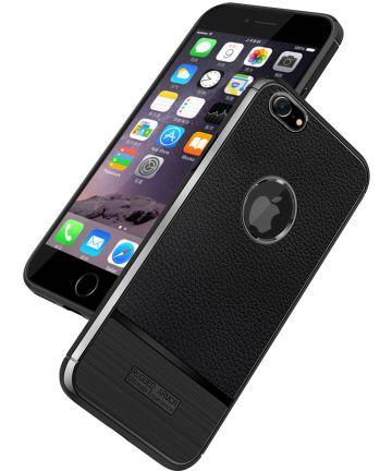 Apple iPhone 6S / 6 Rugged Armor Brushed TPU Hoesje Zwart Hoesjes