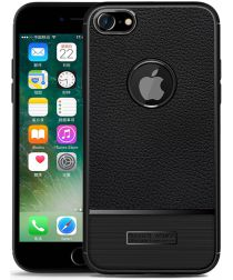 Apple iPhone 8 / 7 Rugged Armor Brushed TPU Hoesje Zwart