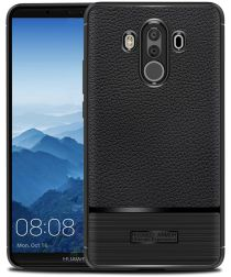 Huawei Mate 10 Pro Rugged Armor Brushed TPU Hoesje Zwart