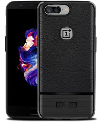 OnePlus 5T Rugged Armor Brushed TPU Hoesje Zwart