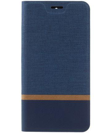 Motorola Moto G5S Linnen Portemonnee Hoesje Blauw