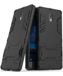 Nokia 3 Hybride Hoesje Zwart