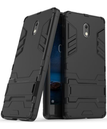 Nokia 3 Hybride Hoesje Zwart Hoesjes