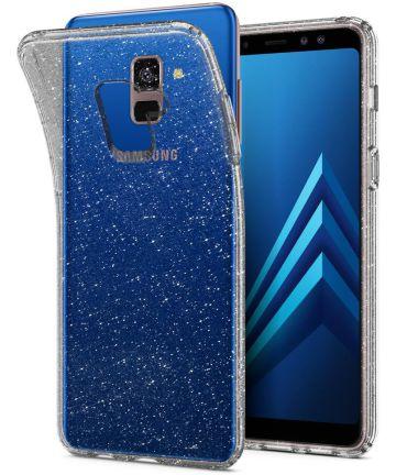 Spigen Liquid Crystal Glitter Samsung Galaxy A8 (2018) Hoesje Transpar