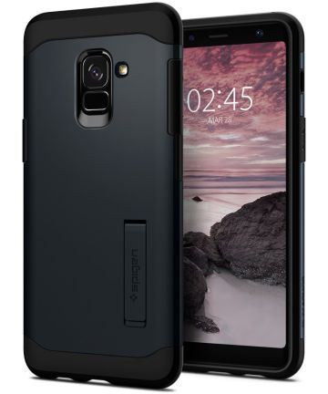 Spigen Slim Armor Hoesje Samsung Galaxy A8 (2018) Metal Slate
