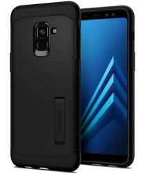 Spigen Slim Armor Hoesje Samsung Galaxy A8 (2018) Black