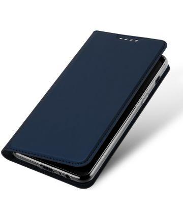 Dux Ducis Samsung Galaxy A8 (2018) Premium Bookcase Hoesje Blauw Hoesjes
