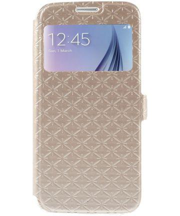 Samsung Galaxy S6 Hoesje met Venster Goud