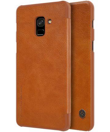 Nillkin Qin Series Flip Hoesje Samsung Galaxy A8 (2018) Bruin