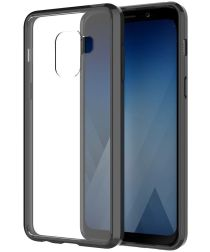 Samsung Galaxy A8 (2018) Hoesje Armor Backcover Zwart