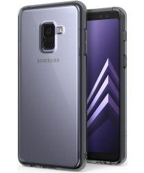 Ringke Fusion Samsung Galaxy A8 2018 Hoesje Doorzichtig Smoke Black