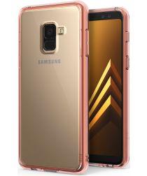 Ringke Fusion Samsung Galaxy A8 2018 Hoesje Doorzichtig Rose Gold