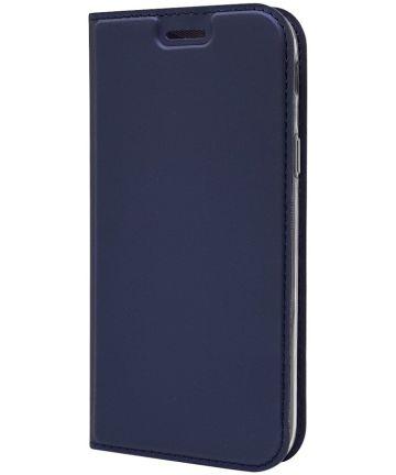 Samsung Galaxy J5 (2017) Flip Hoesje met Kaart Houder Blauw
