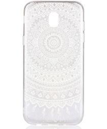 Samsung Galaxy J7 (2017) TPU Hoesje met Mandala Opdruk Wit