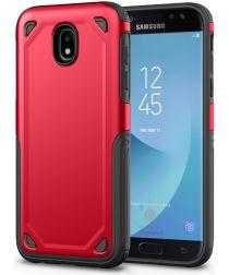 Samsung Galaxy J7 (2017) Stevig Hybride Hoesje Rood