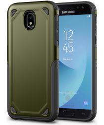 Samsung Galaxy J7 (2017) Stevig Hybride Hoesje Groen