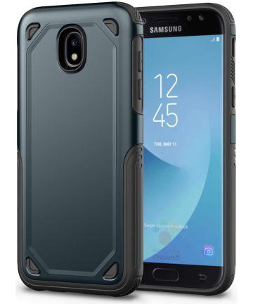 Samsung Galaxy J7 (2017) Stevig Hybride Hoesje Blauw Hoesjes