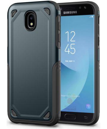 Samsung Galaxy J5 (2017) Stevig Hybride Hoesje Blauw Hoesjes