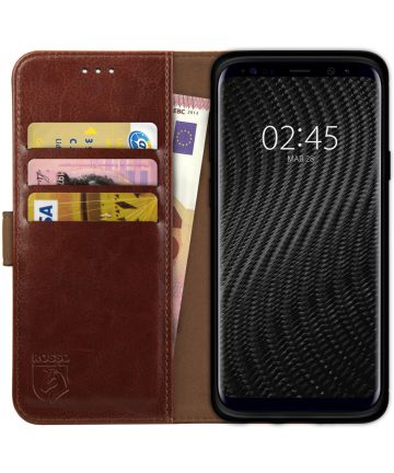 Rosso Element Samsung Galaxy S9 Hoesje Book Cover Bruin Hoesjes