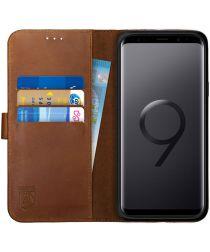Rosso Deluxe Samsung Galaxy S9 Plus Hoesje Echt Leer Book Case Bruin