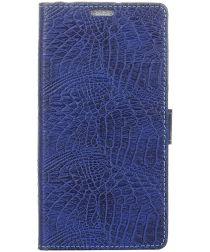 Sony Xperia XA2 Flip Hoesje met Standaard Donker Blauw