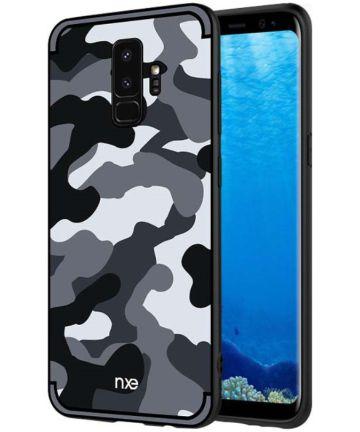 Samsung Galaxy S9 Hybride Hoesje met Camouflage Grijs