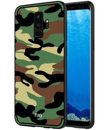 Samsung Galaxy S9 Hybride Hoesje met Camouflage Groen