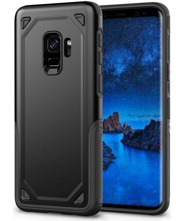 Samsung Galaxy S9 Hybride Rugged Armor Hoesje Zwart