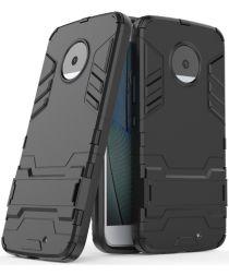 Hybride Motorola Moto X4 Hoesje Zwart
