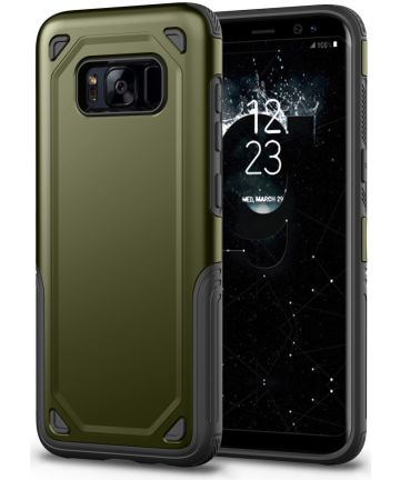 Samsung Galaxy S8 Hybride Rugged Armor Groen Hoesjes