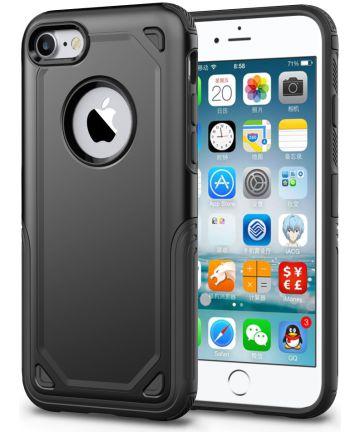 Apple iPhone 8 / 7 Hybride Rugged Armor - Zwart