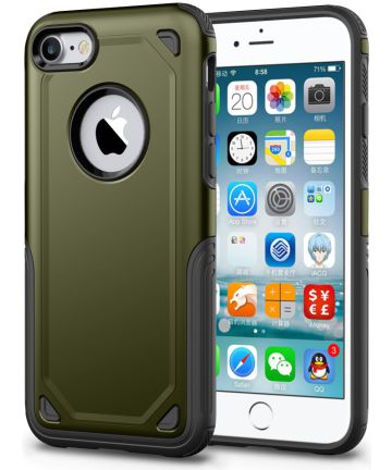 Apple iPhone 8 / 7 Hybride Rugged Armor - Leger Groen