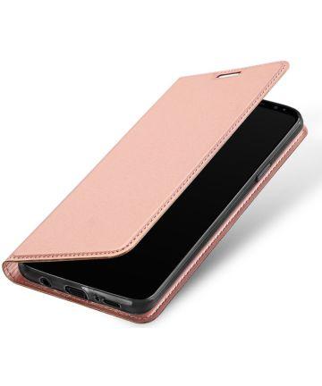 Dux Ducis Samsung Galaxy S9 Plus Premium Bookcase Hoesje Roze Goud