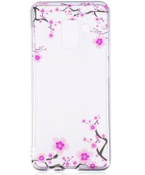 Samsung Galaxy A8 (2018) TPU Back Cover Flowers