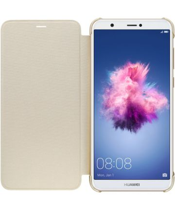 Huawei P Smart Originele flip cover goud