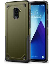 Samsung Galaxy A8 (2018) Hybride Rugged Armor Hoesje Groen