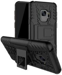 Samsung Galaxy S9 Robuust Hybride Hoesje Zwart