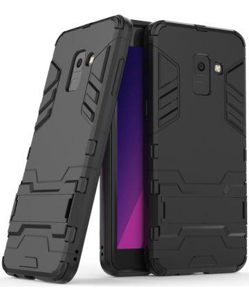 Samsung Galaxy A8 (2018) Hybride Hoesje met stand Zwart