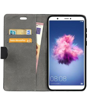Huawei P Smart Hoesje met Kaarthouder Zwart Hoesjes