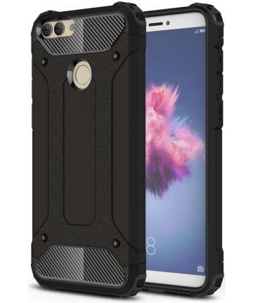 Huawei P Smart Hybride Hoesje Zwart