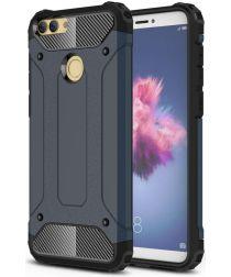 Huawei P Smart Hybride Hoesje Donker Blauw