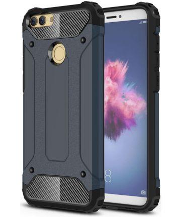Huawei P Smart Hybride Hoesje Donker Blauw Hoesjes