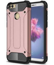 Huawei P Smart Hybride Hoesje Roze Goud