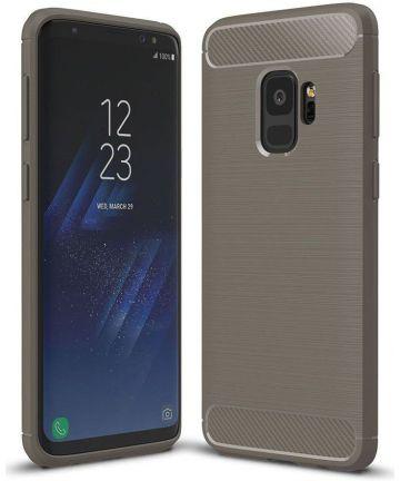 Samsung Galaxy S9 Geborsteld TPU Hoesje Grijs